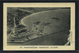 Chromo/photo Tamatave Le Port Madagascar Colonies Françaises Pub :Café Du Beffroi 96 X 64 Mm Bien - Old Paper