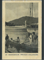 Chromo/photo Madagascar Pirogue à Balanciers Colonies Françaises Pub :Café Du Beffroi 96 X 64 Mm Bien - Old Paper