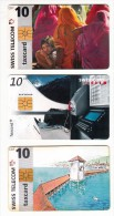 3 Télécartes - Suisse - Kulturen - Staumauer Luzzone - Pont De La Chapelle - 1997 Et 1998 - Switzerland