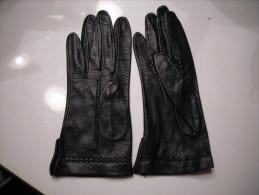 Gants  Noir Cuir/sans Marque Ni Taille - Non Classés