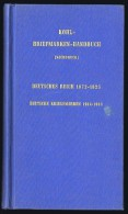 KOHL-BRIEFMARKEN-HANDBUCH (1974 Nachdruck) Deutsches Reich 1872-1925, Deutscher Kriegsmarken 1914-1918 - Manuali