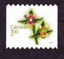CANADA, 2010, # 2362i,  FLOWERS DEFINITIVES: GIANT HELLEBORINE, SINGLE  DIE CUT  MNH - Carnets