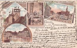 STRSBOURG  1900 AVEC TIMBRE REICHS - Strasbourg