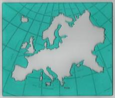 CARTE De  L´ EUROPE  Pour écolier En Plastique Vert Avec Pochette - Année 1950/60 - Non Classés