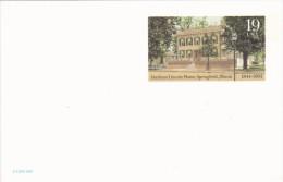 Carte 9x14 D´ AMERIQUE - ABRAHAM LINCOLN HOME - SPRINGFIELD ILLINOIS - 1844-1994 - Springfield – Illinois