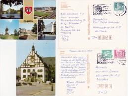 2  CPM D' ALLEMAGNE - PLAUEN - Rathaus - Im STADTPARK - Plauen