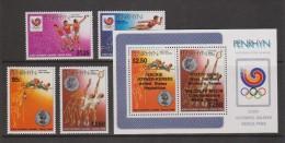 Penrhyn Island 1988 Seoul Olympic Games Set 4, The Overprint Set 4 & The Overprinted Miniature Sheet MNH - Penrhyn