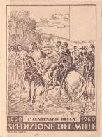 I Centenario Della Spedizione Dei Mille 1860 - 1960 - MAXIMUM CARD - Cartoline