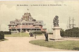 SAINT-MALO - Carte Toilée Colorisée (1916) N° 25 F.L. - Saint Malo