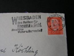 == Wiesbaden Brief Rheuma Gicht 1935 - Deutschland