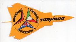 REF 6  : Autocollant Publicitaire TORNADO Avion De Chasse - Stickers