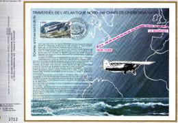 Feuillet Tirage Limité CEF 407 Traversée De L´Atlantique Nord Par Charles Lindbergh Avion Aviation - Brieven En Documenten
