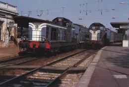 ERMONT  EAUBONNE  - Train Omnibus Pour Argenteuil, Locomotives BB66288 Et BB 66284 ( 15 Avril 1982) - Ermont