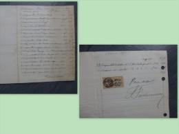 Graveur J. FOULONNEAU (Devambez)  1927 Facture Autographe Signée, Ambassade USA, Champagne Louis Roederer Etc Ref 401 - Autografi
