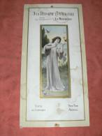 """PUBLICITES CARTON GAUFFREES 1920 LA ROCHELLE METIER MERCERIE """"A LA REFORME COMMERCIALE """" FORMAT 44x22CM - Publicités"""