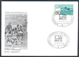 Football Soccer FIFA World Cup Germany Cover 1974 Campeonato Mundial De Futbol - Match Brasil - Yugoslavia - Coppa Del Mondo