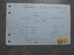 Gaston GANDON, Graveur De TIMBRES POSTE, L'Hay-les-Roses, 1928 Facture Exlibris  Etc Ref 368 - Autographes