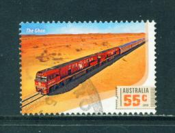AUSTRALIA  -  2010  Train  55c  Sheet Stamp  Used As Scan - 2010-... Elizabeth II