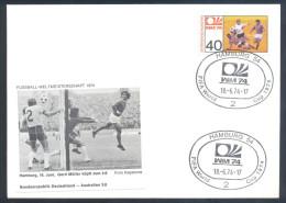 Football Soccer FIFA World Cup Germany Cover 1974 Campeonato Mundial De Futbol - Match Germany BRD - Australia 3:0 - Coppa Del Mondo