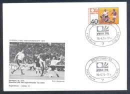 Football Soccer FIFA World Cup Germany Cover 1974 Campeonato Mundial De Futbol - Match Argentina - Italy 1:1 - Coppa Del Mondo