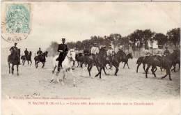 SAUMUR - Ecole De Cavalerie  - Cours 1902- Exercice Du Sabre Sur Le Chardonnet        (66876) - Saumur