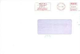 Frankreich St. Denis AFS 1990 TEP Location - Poststempel (Briefe)