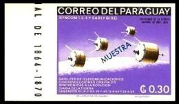 Paraguay: ´Satelliten Syncom & Early Bird, 1966´ / ´Space Satellite´, I Mi. 1661 M; Yv. 876 ND [Muestra - Specimen] ** - América Del Sur
