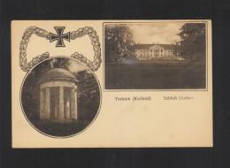 Latvia PPC Tukums Durben Castle 1917 - Latvia