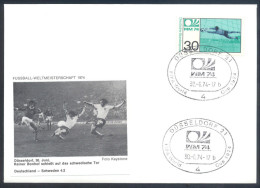 Football Soccer FIFA World Cup Germany Cover 1974 Campeonato Mundial De Futbol - Match Poland - Germany BRD 0:1 - Coppa Del Mondo