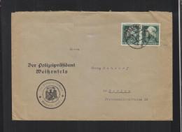 Polizeipräsident Weißenfels Brief Lochungen - Deutschland