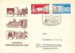 D FDC 750-51  Leipziger Frühjahresmesse 1960, Leipzig - FDC: Briefe