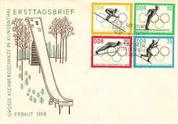 D FDC 1000-03  Grosse Aschbergschanze In Klingenthal, Berlin W 8 - FDC: Briefe