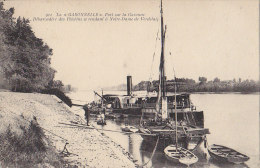 Verdelais 33 -  Bâteau à Roue La Garonnelle / Pélérinage / Voilier Pêche / Cachet 1915 Militaria Hopital - Verdelais