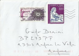FRANCE 2014 - COVER ADDR TO ANDORRA W 2 STS:1 OF 1,00 FR(100 YEARS METER CONVENTION-WEIGHTS & MEASURES OF 1975)+ 1 OF 3, - France