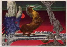 Helmut Ullrich , Pegasus Mit Rotem Mond - Malerei & Gemälde