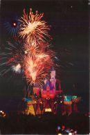 Fireworks, Disneyland, California USA Postcard Used Posted To UK 1998 Stamp - Disneyland