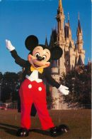 Mickey Mouse & Cinderella Castle, Disneyworld, Florida USA Postcard Used Posted To UK 1996 Stamp - Disneyworld