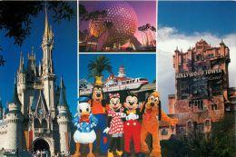 Multiview, Disneyworld, Florida USA Postcard Used Posted To UK 1999 Stamp - Disneyworld