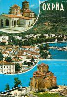 Ohrid, Macedonia Postcard Used Posted To UK 1976 Stamp - Macédoine