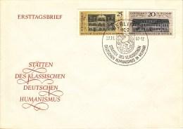 D FDC 1329-30  Stätten Des Klassischen Deutschen Humanismus In Weimar, Berlin 2 - FDC: Sobres