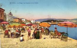 06 - Nice - La Plage, Les Casinos Et Les Hotels - Niza