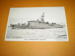 Carte Photo : Aviso : Commandant  Ducuing - Warships