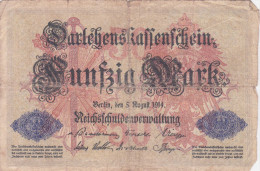 50 Mark, - [ 3] 1918-1933 : República De Weimar