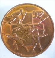 MEDAILLE PAR HUGUENIN GRINDELWALD SCHWEIZER-MEISTERSCHAFTE CANTON DE BERNE COMPETITION SORTIVE SPORT SKI TIR ESCRIME - Entriegelungschips Und Medaillen
