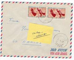 TCHAD , Enveloppe De 1969 Timbre Mission Bailloud Dans L´Ennedi Femme Et Joueur De Harpe - Tsjaad (1960-...)