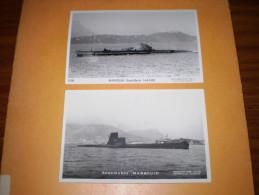 Carte Photo Sous Marin  MARSOUIN : 2 Cartes Différentes - Sous-marins