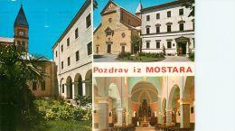 Mostar, Bosnia Postcard Used Posted To UK 1996 Gb Stamp - Bosnia And Herzegovina