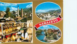 Sarajevo, Bosnia Postcard Used Posted To UK 1981 Stamp - Bosnia And Herzegovina