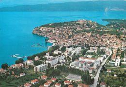Ohrid, Macedonia Postcard Used Posted To UK 1991 Stamp - Macédoine