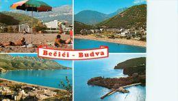Becici Budva, Montenegro Postcard Used Posted To UK 1985 Stamp - Montenegro